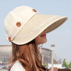 Dames Style Classique Polyester Chapeaux de plage / soleil