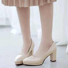 De mujer Cuero Tacón ancho Salón Cerrados con Otros zapatos