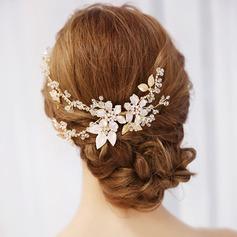 Filles Charme Cristal/Alliage/De faux pearl Des peignes et barrettes avec Perle Vénitienne (Vendu dans une seule pièce)