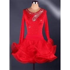 Женщины Одежда для танцев Спандекс Органза Латино Балетное трико