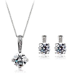 Shining Alloy/Cubic Zirconia Women's Jewelry Sets (011051749)
