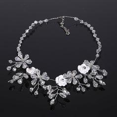 Elegante Diamantes de imitación/Arcilla del polímero con Rhinestone Señoras' Collares