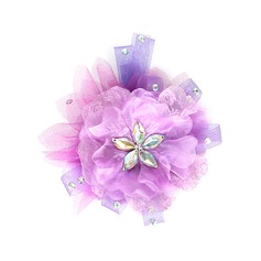 Beautiful Crystal Tulle Flowers