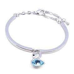 Ladies' Simple Alloy Rhinestone/Austrian Crystal Bracelets For Friends