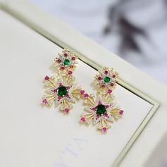 Dames Style Vintage Alliage Boucles d'oreilles elle/Amis/la mariée/Demoiselle d'honneur/Fille fleurie