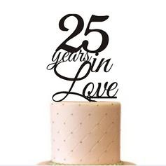 Brev Akryl årsdag Tårtdekoration