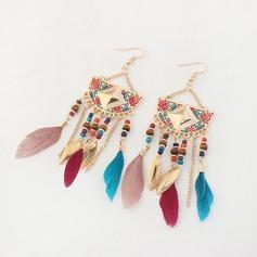 Vackra Och Legering Fjäder Damer' Mode örhängen