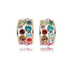 Prächtig Legierung Kristall Damen Art-Ohrringe