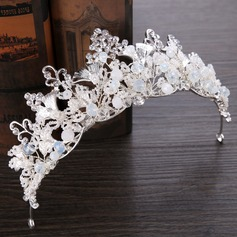 Ladies Fashion Rhinestone/Alloy/Imitation Pearls Tiaras With Rhinestone/Venetian Pearl (Sold in single piece) (042199656)