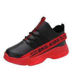 Unisex Round Toe Geschlossene Zehe Leder Flache Schuhe Sneakers & Sport mit Zuschnüren