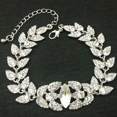 Elegante Aleación/Diamantes de imitación con Rhinestone Señoras' Pulseras