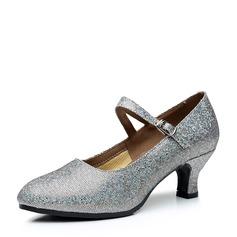 Vrouwen Sprankelende Glitter Pumps Character Shoes Dansschoenen