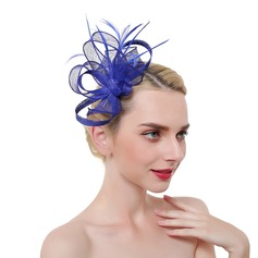 Dames Het oog Springende/Charme/Romantische Batist/Feather met Feather Fascinators