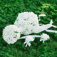 Elegante Redondo Satén/PE Conjuntos de flores