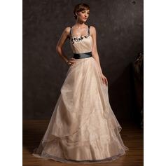 Çan/Prenses Uzun Etekli Taffeta Organza Mezuniyet Elbisesi