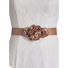 Unique Satin Sash With Flower (015151757)