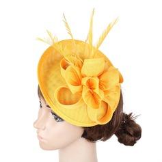 Senhoras Feito à mão/Mais quente Cambraia com Flor de seda Fascinators/Kentucky Derby Bonés