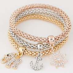 Charmant Alliage Strass avec Strass Dames Bracelets de mode (Lot de 3)