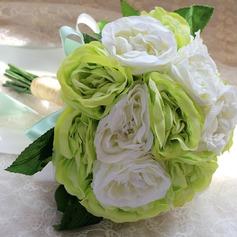 Привлекательным Круглый Атлас Свадебные букеты/Невесты Букеты