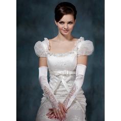 Elastische Satin Opera Länge Braut Handschuhe (014020514)