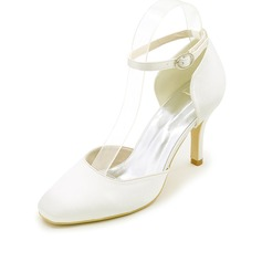 Women's Silk Like Satin Stiletto Heel Pumps With Others (047111542)