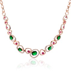 Shining Alloy With Crystal Women's/Ladies' Necklaces