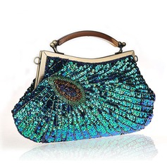 Elegant Glittrande Glitter/polyester Handledsväskor/Totes väskor