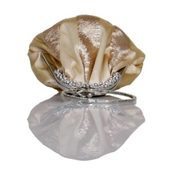 Shining Silk/Sequin With Rhinestone Wristlets/Bridal Purse