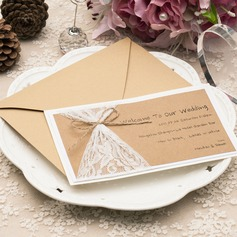 Personalized Pearl Paper/Kraft Paper Invitation Cards (Set of 10)