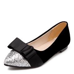 Donna Similpelle Senza tacco Ballerine con Bowknot Paillette scarpe