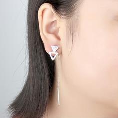 Brillant Cuivre/Zircon de avec Zircon cubique Boucles d'oreilles