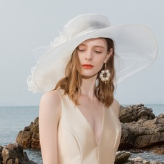 Damen Elegant Organza/Tüll Bowler/Kapotthut/Kentucky Derby Hüte