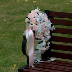 Cascada Flores de seda Ramos de novia (vendido en una sola pieza) -