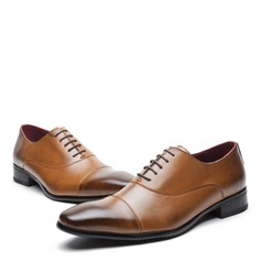 Мужская натуральня кожа Cap Toes шнуровка Платья Men's Oxfords (259171633)
