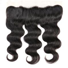 """13""""*4"""" 5A Corps les cheveux humains Fermeture (Vendu en une seule pièce)"""
