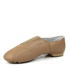 Frauen Echtleder Mesh Flache Schuhe Jazz Tanzschuhe