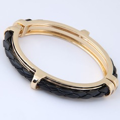 Unique Alloy Leatherette Women's Fashion Bracelets (Sold in a single piece)