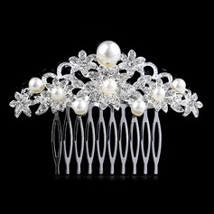 Hermoso Rhinestone/Aleación/La perla de faux Peines y pasador