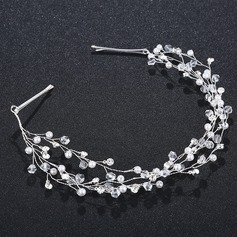 Damer Fin Legering Pannebånd med Venetianske Perle/Crystal