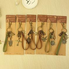Classique Style vintage Chromé Portes-clés (Lot de 6)