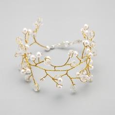Vackra Och Legering med Kristall/Imitationer av Naturpärlor Damer' Armband