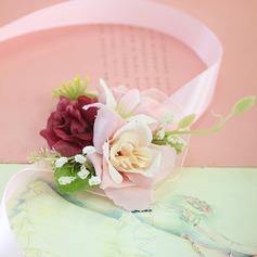 Satin/Baumwolle/Band Armbandblume (Sold in a single piece) -