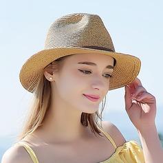 Damer' Särskilda/Elegant Flätad Sugrör Halmhatt/Beach / Sun Klobúky