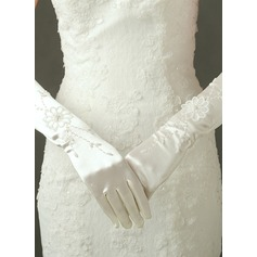 Tulle/Satin Elbow Length Bridal Gloves
