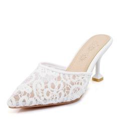Kvinner Mesh Stiletto Hæl Sandaler Pumps sko