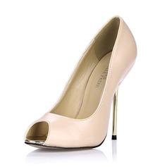 Konstläder Stilettklack Sandaler Pumps Peep Toe skor