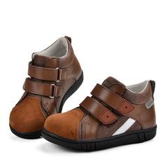 Unisexe Cuir en microfibre talon plat bout rond chaussure de tennis Sneaker & Athletic avec Velcro