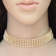 Klassisk stil Legering Strass med Strass Damer' Mode Halsband