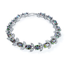 Prachtige Platina Vergulde met Zirkoon Dames Fashion Armbanden