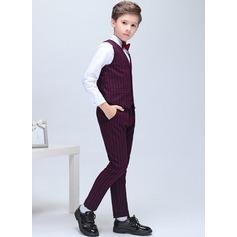Chłopcy 5 sztuk Elegancki Garnitury dla posiadacza pierścienia /Page Boy Garnitury Z Kurtka Koszula Zachód Spodnie pętla